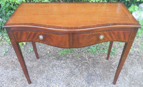 Serpentine Mahogany Side Table by Bridgecraft